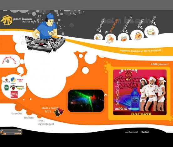 Palm Beach weblap V 1.0