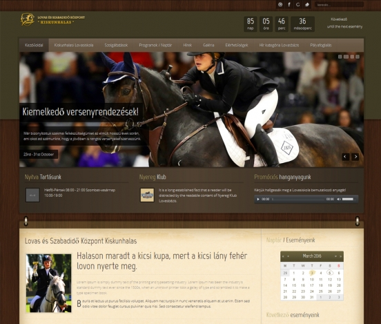 Kiskunhalasi Lovasbázis honlapja