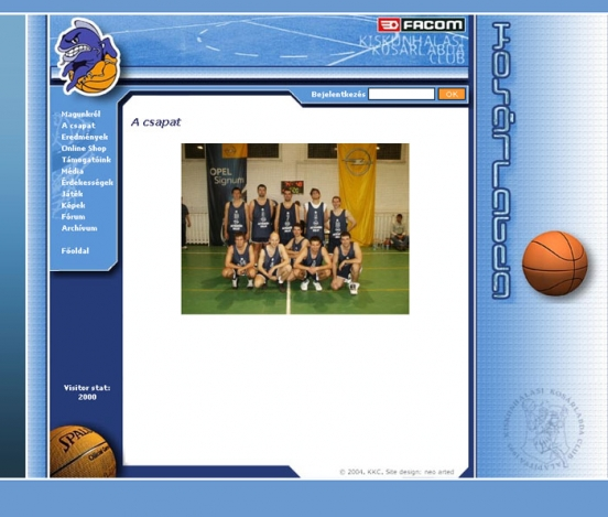 Halas basket weblap