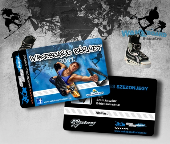 Wakeboard card
