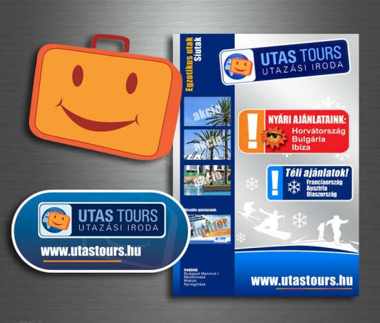 Utas Tours sign