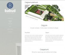 Babud és Társa honlap kialakítás