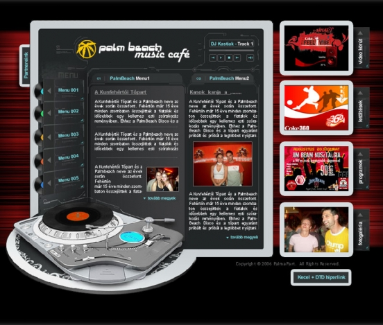 Palm Beach weblap V2.0