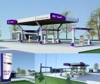 CNG Suez gáz töltőállomás redesign