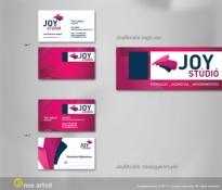 JoyStúdió logó és névjegykártya